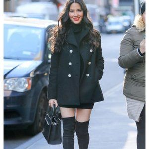 J. Crew Black Large Wool Peacoat